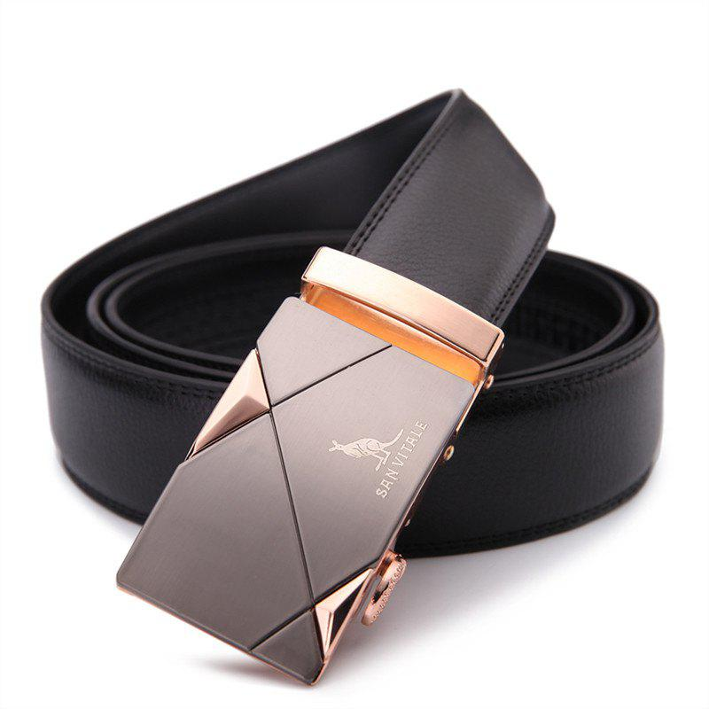 Outfits SAN VITALE Slim Stretch Buckle Belt Men Strap