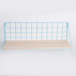 Iron Mesh Basket on Wall Shelf -