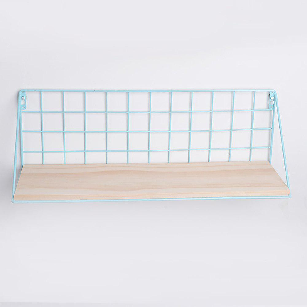Latest Iron Mesh Basket on Wall Shelf