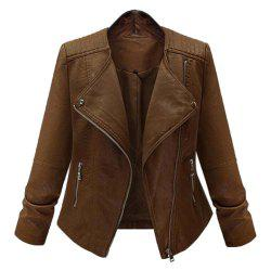 Plus Size Women's Locomotive Leather Suit -