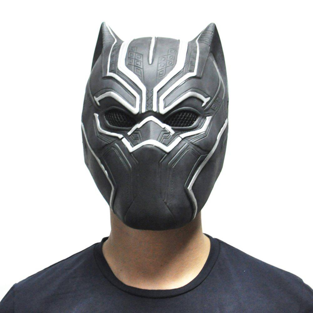 Discount YEDUO Black Panther Masks Movie Fantastic Four Cosplay Latex Party Halloween