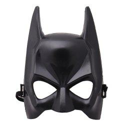 YEDUO Halloween Half Face Batman Mask Black Masquerade Dressing Party Cosplay -