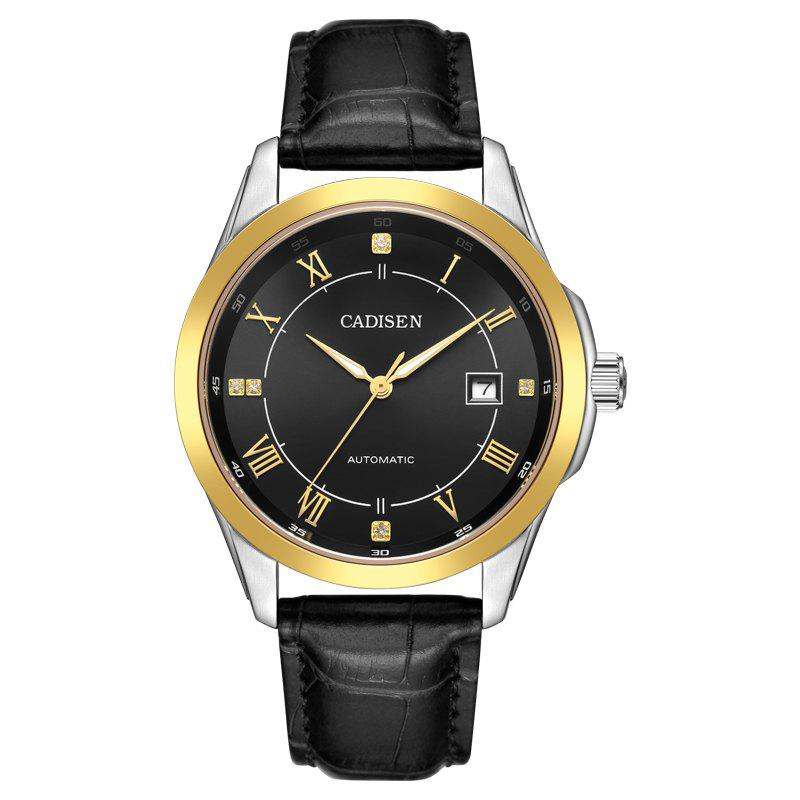030872d2dffe New CADISEN C1027 Fashion Business Stainless Steel Leather Belt Automatic Men  Watch