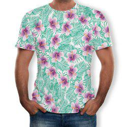 Casual Fashion Men's Trend 3D Printed Short-Sleeved T-Shirt -