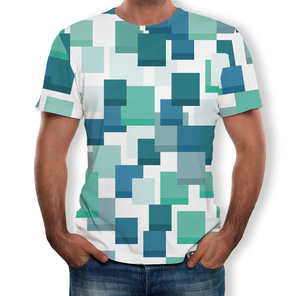 Hot Casual Fashion Men's Trend 3D Printed Short-Sleeved T-Shirt