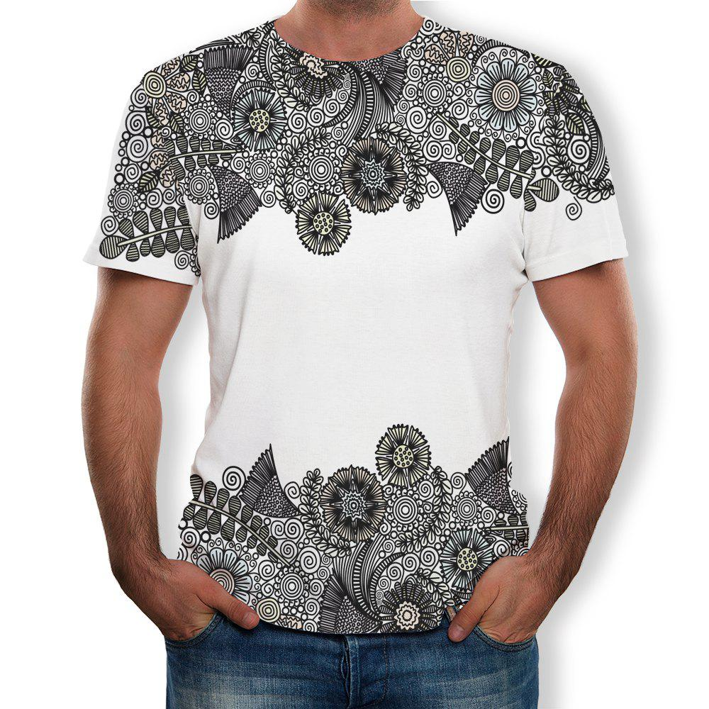 Fashion Casual Fashion Men's Trend 3D Printed Short-Sleeved T-Shirt