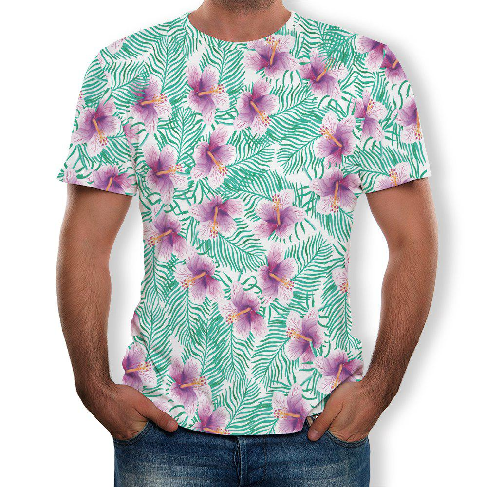 Chic Casual Fashion Men's Trend 3D Printed Short-Sleeved T-Shirt