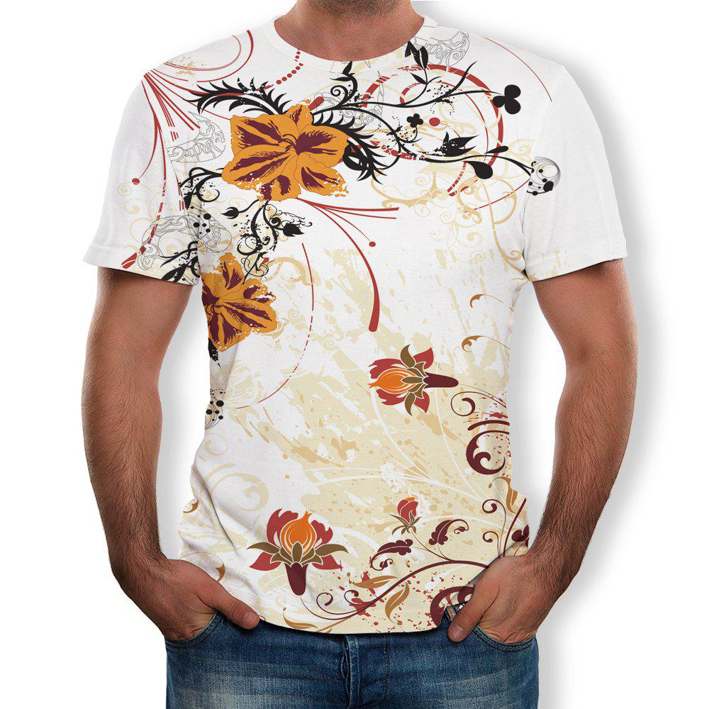 New Casual Fashion Men's Trend 3D Printed Short-Sleeved T-Shirt