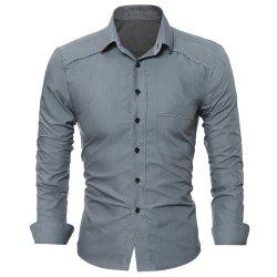 Men's Personality Hem Fashion Solid-Color Leisure Long-Sleeved Body-Trimming -