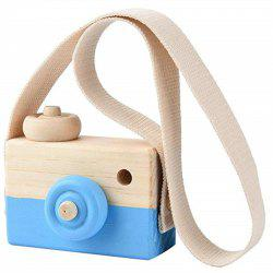 Wooden Toy Camera Kids Creative Neck Hanging Rope Photography Prop Gift -