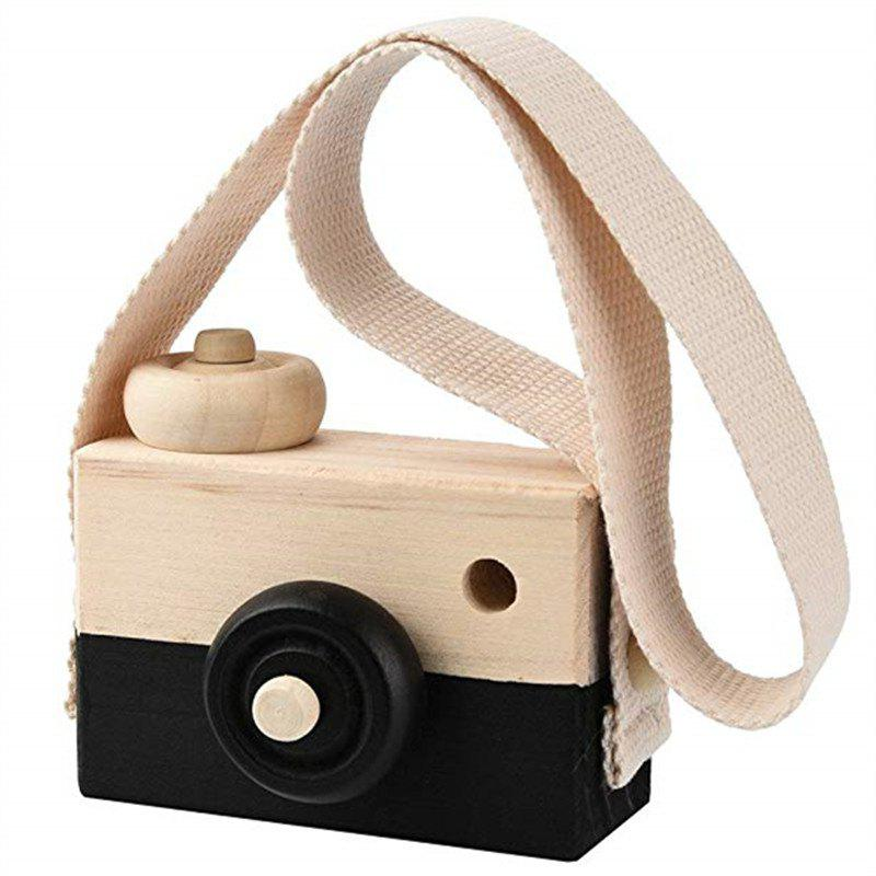 Unique Wooden Toy Camera Kids Creative Neck Hanging Rope Photography Prop Gift