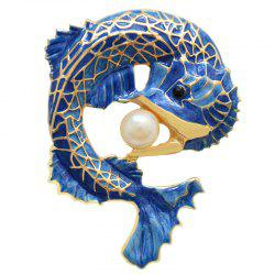 Drip Oil Process Simulation Arowana Brooch -