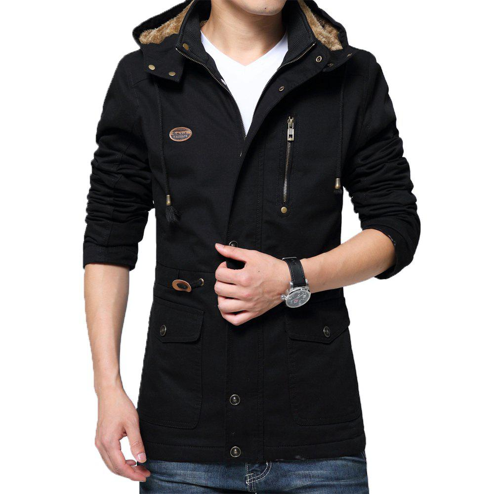 Trendy Men Winter Cotton-padded Warm Leisure Fashion Jacket