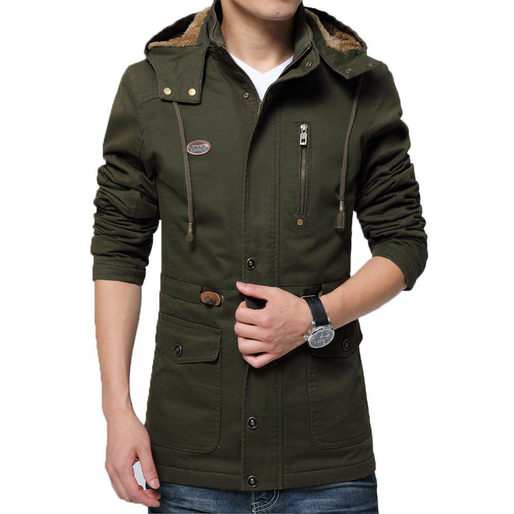 c0194df51 Men Winter Cotton-padded Warm Leisure Fashion Jacket