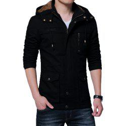 Men Winter Cotton-padded Warm Stand Up Collar Jacket -