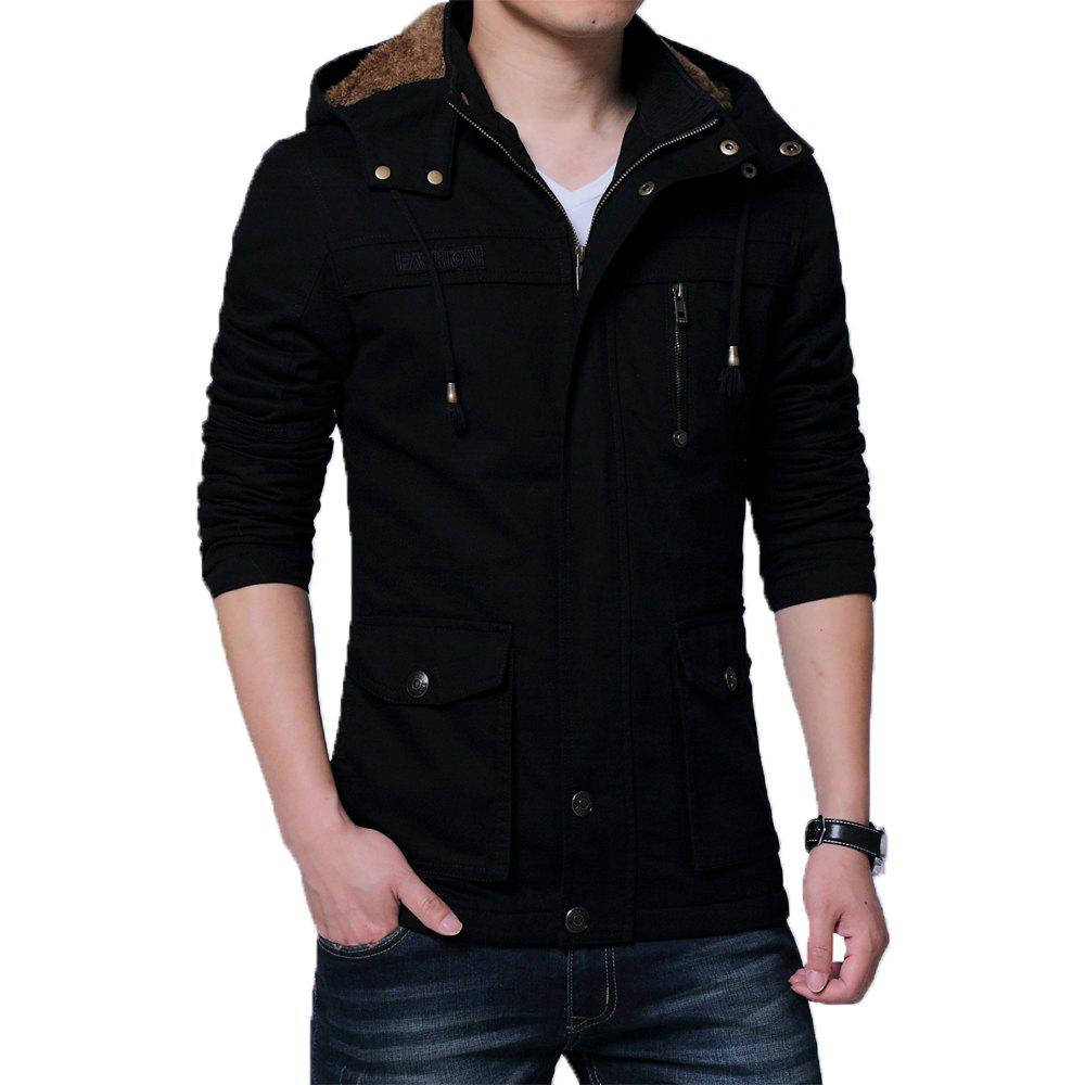 Affordable Men Winter Cotton-padded Warm Stand Up Collar Jacket