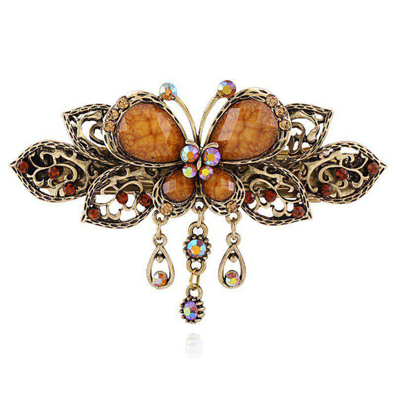 Affordable Fashion Vintage Butterflies Hairpin Cross Clip