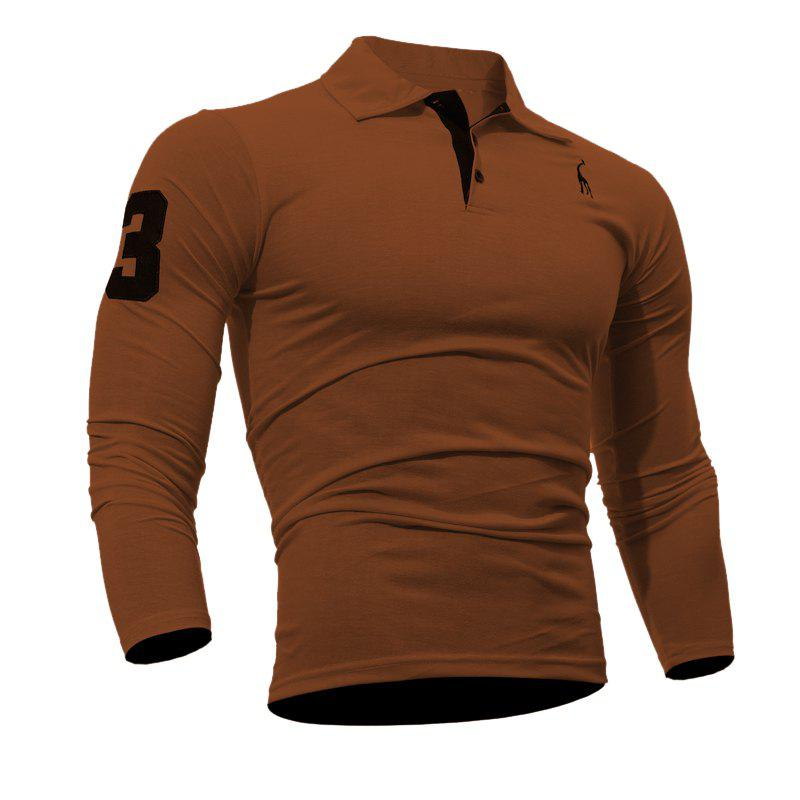 Latest Men's Casual Embroiderye Long Sleeve Shirt