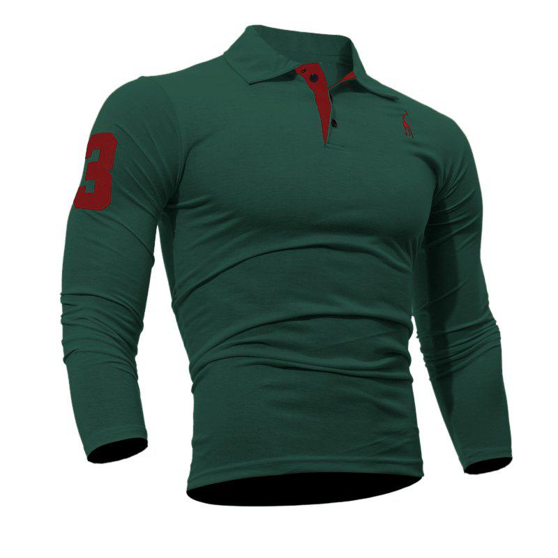 Fashion Men's Casual Embroiderye Long Sleeve Shirt