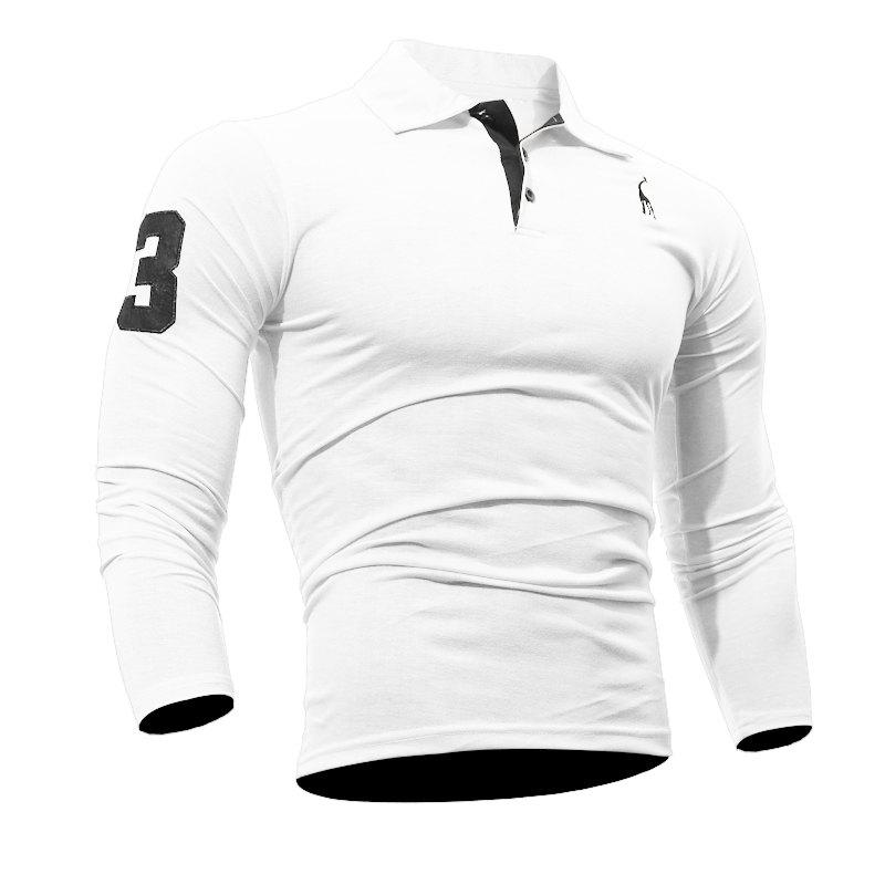 Store Men's Casual Embroiderye Long Sleeve Shirt