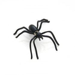 Black Spider Earrings Personality Double-Sided Front and Rear Earrings -