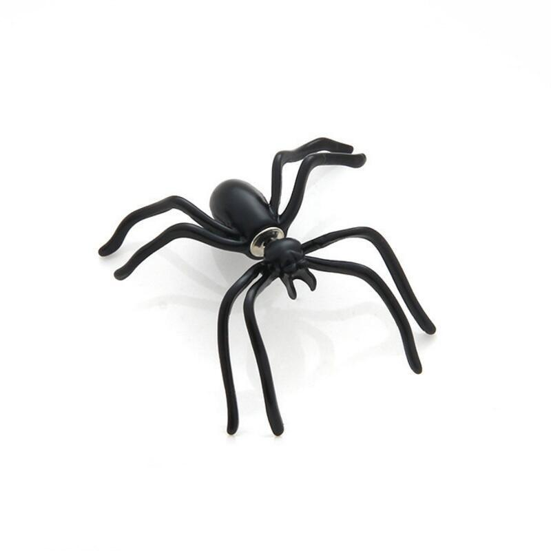 Shops Black Spider Earrings Personality Double-Sided Front and Rear Earrings