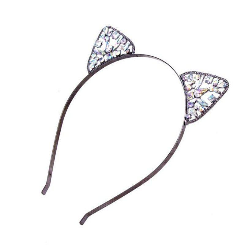 Высокое качество Lovely Alloy Diamond Cat Ears Headband