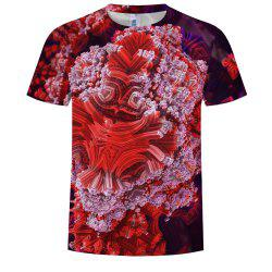 Fashion 3D Printed Round Neck Short-sleeved T-shirt -