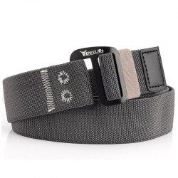 9-BUTTON Nylon Elastic Stretch Tactical Outdoor Woven Canvas Belt -