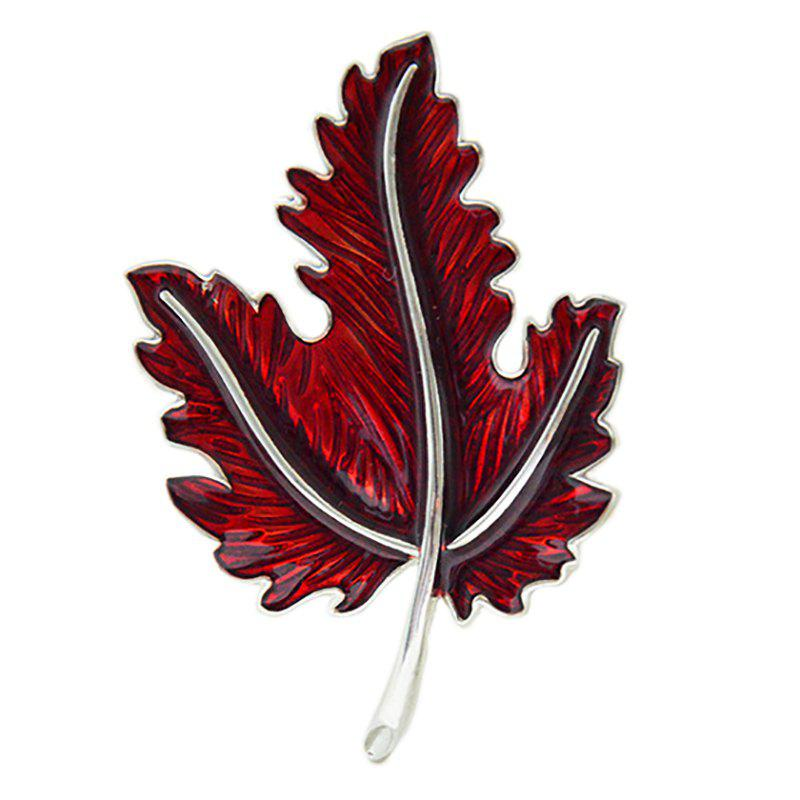 Fancy Drip Oil Process Simulation Maple Leaf Brooch