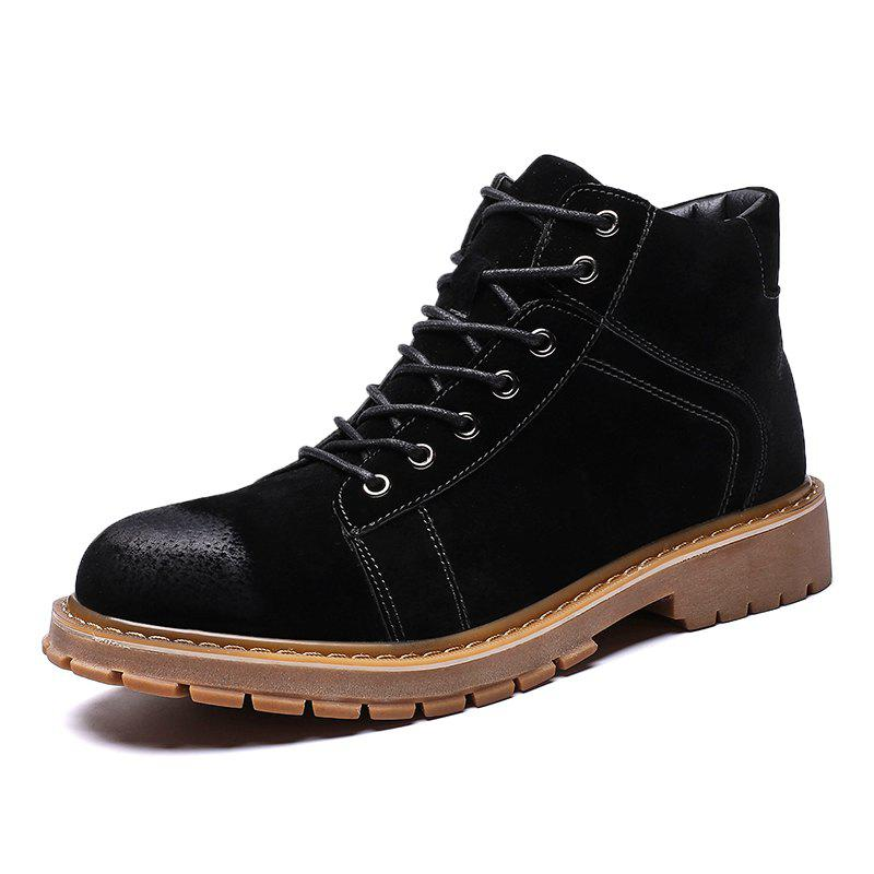 New ZEACAVA Men's Fashion High Martin Shoes Tooling Boots
