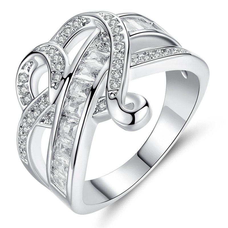 Sale Fashionable Diamond Crystal Heart Ring