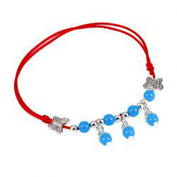 Simple Bell Red Rope Hand Woven National Wind Chain -