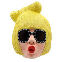 Halloween Cosplay Prop Lady Girl Head Latex Mask -