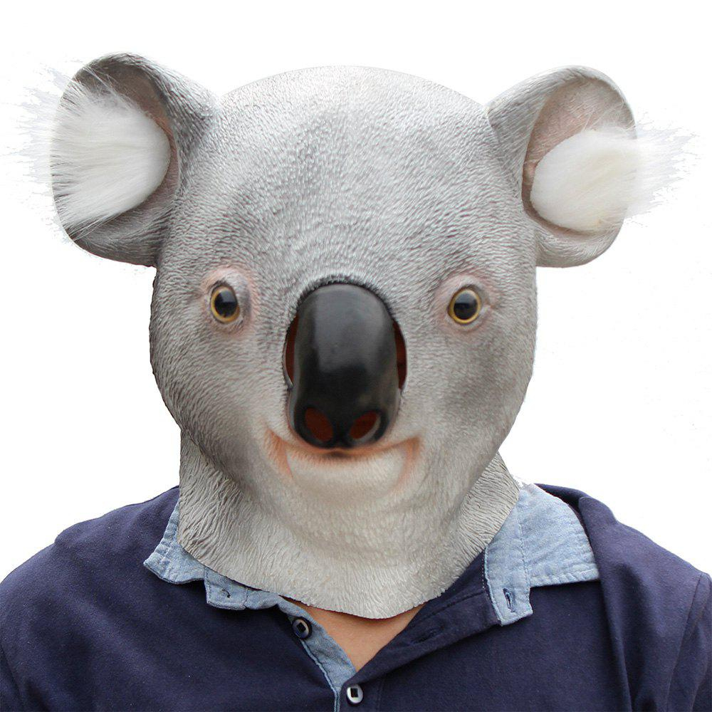 Halloween Cosplay Animal Koala Masque Tête En Latex