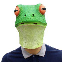 Halloween Cosplay Whimsy Prop Frog Latex Head Mask -