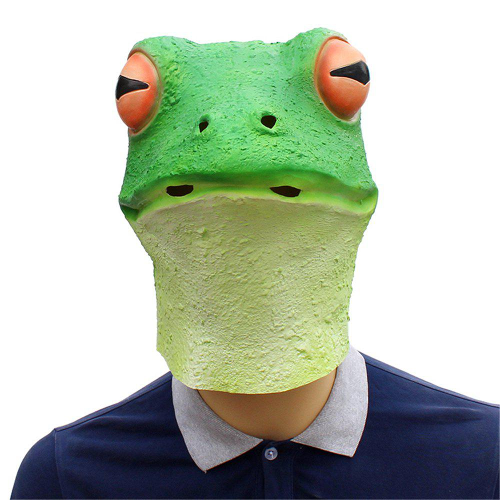 Hot Halloween Cosplay Whimsy Prop Frog Latex Head Mask