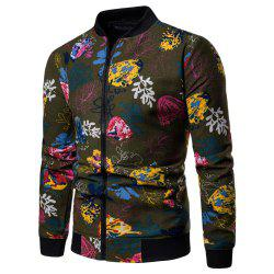 Men's  Large Size Out Long-sleeved Ethnic Style Print Jacket -