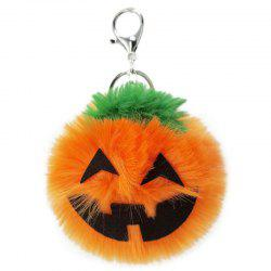Halloween Pumpkin Light Plush Keychain  Pendant -