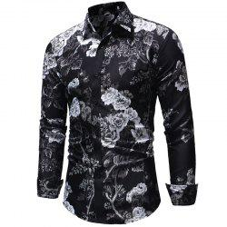 Men's Fashion Casual Long-Sleeved Shirt Slim -