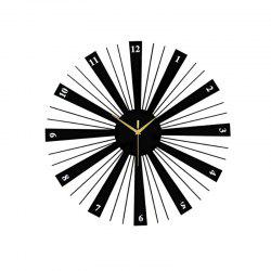 Modern Contemporary Wood  Metal Round AA Wall Clock -