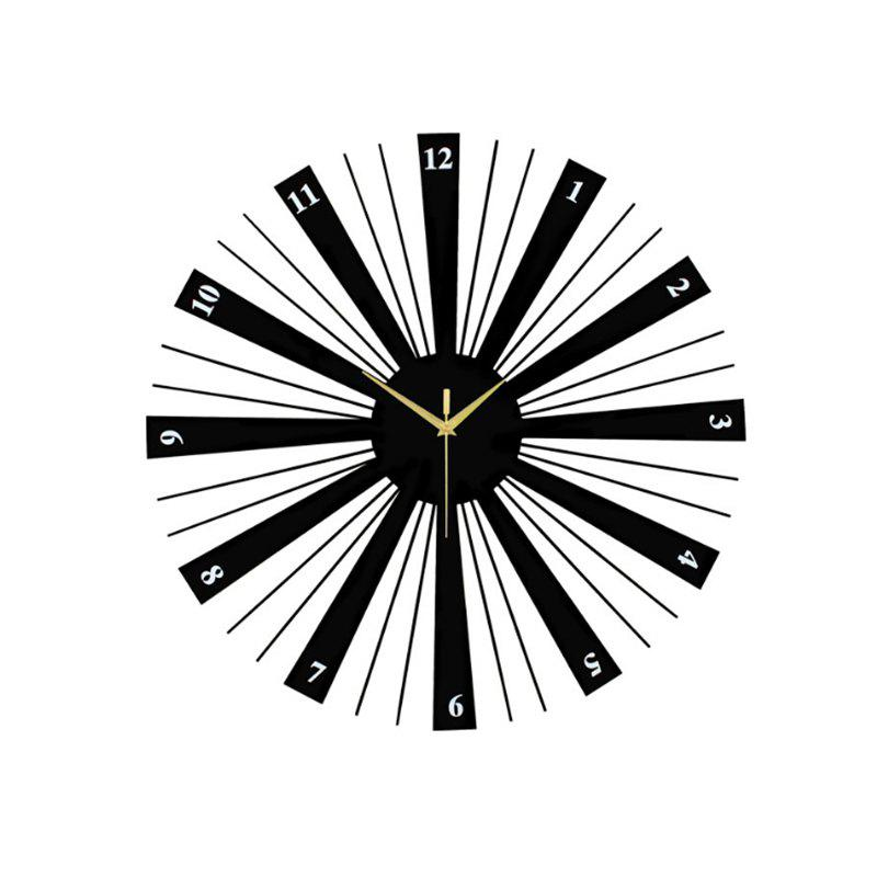 Shop Modern Contemporary Wood  Metal Round AA Wall Clock
