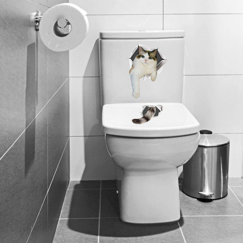 Animals Shapes Toilet PVC Wall Sticker