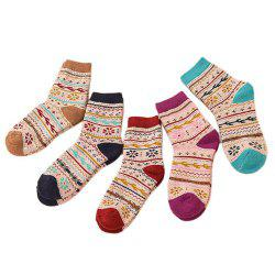 Vintage Sweet Fashion Rabbit Wool Socks 5 Pairs -