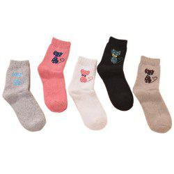 5 Pair of Thickening Warm Cartoon Cat Ladies Socks -