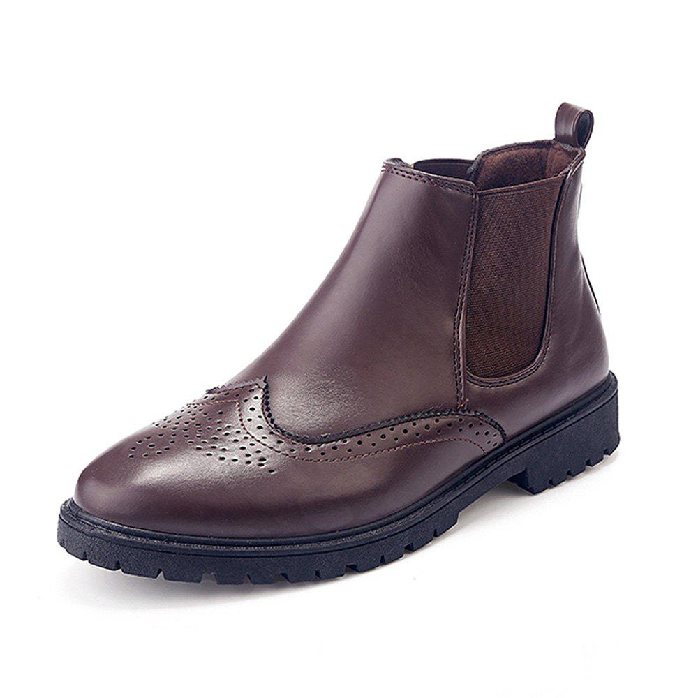Outfit Men Casual Gentle Solid Classical Boots