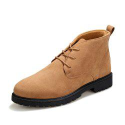 Men Autumn Solid Classical Lace Up Boots -