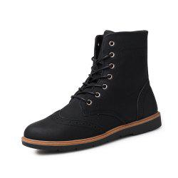 Men Solid High Vamp Classical Boots -