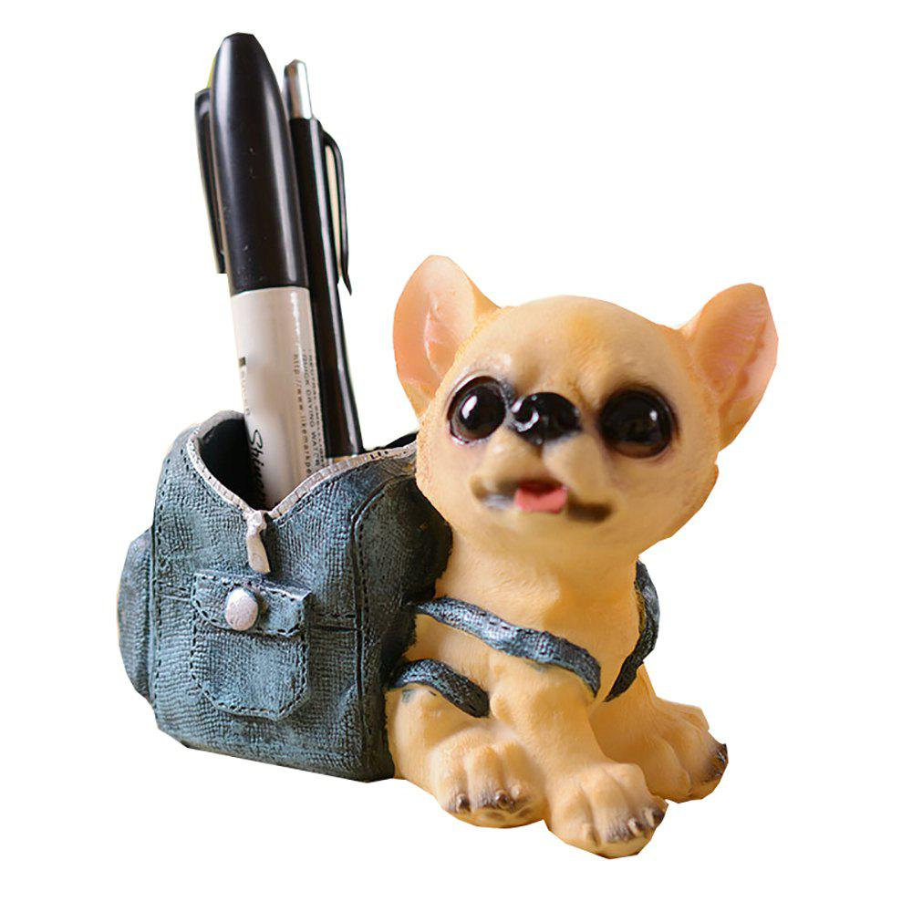 Unique Cartoon Dog Doll with Cowboy Backpack Pen Holder