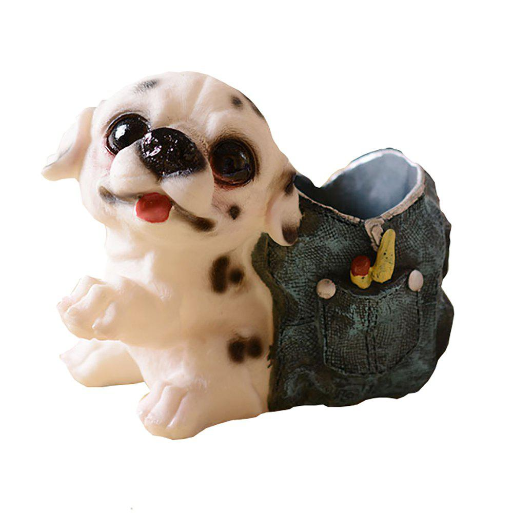 Outfits Cartoon Dog Doll with Cowboy Backpack Pen Holder